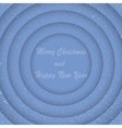 Concentric Blue Circles New Year Merry Christmas vector image