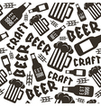 Craft beer brewery seamless pattern vector image vector image