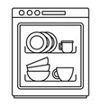 dishwasher icon outline style vector image