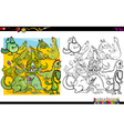 dragon characters coloring book vector image vector image