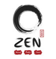 enso zen circle sumi e design black and gray vector image vector image
