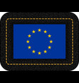 flag of european union icon on black leather vector image vector image