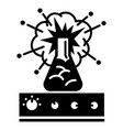 flask explosion icon simple style vector image vector image