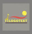 flat shading style icon giraffe logo vector image vector image