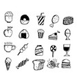 hand draw food icon doodle design vector image