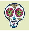 Hand-drawn sugar skull vector image