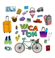 Hand Drawn Vacation Doodle vector image vector image