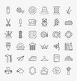 handmade line icons set vector image