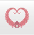 heart house logo icon vector image vector image