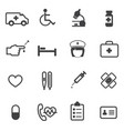 hospital and medical icons set vector image
