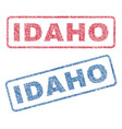 idaho textile stamps vector image vector image