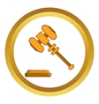 Judge gavel icon vector image vector image