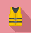 kayak vest icon flat style vector image vector image