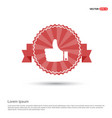 like icon - red ribbon banner vector image