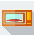 Modern flat design concept icon microwave vector image vector image