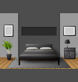 modern interior bedroom vector image