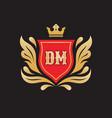 monogram d m initial letters - concept logo vector image vector image