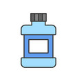 mouthwash bottle dental related icon filled vector image vector image