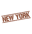 New York brown square stamp vector image vector image