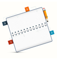 Paper Notebook on White Background vector image