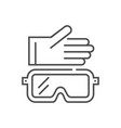 protective clothing related thin line icon vector image