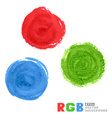 RGB watercolor paint circles vector image vector image