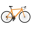 Road racing bike isolated on white background vector image vector image