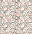 Seamless pattern of female doodle hand drawn vector image vector image