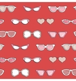Seamless pattern Women fashion sunglasses set vector image vector image