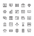 SEO and Marketing Outline Icons 2 vector image vector image