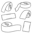 set of adhesive tape vector image