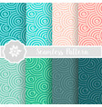 set of circle round geometric vector image vector image