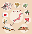 set of national profile of the japan vector image vector image