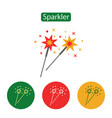 sparkler icon simple party sign vector image