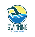 swimming logo with text space for your slogan vector image vector image