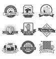 Textile emblem set vector image vector image