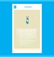 tie mobile vertical banner design design vector image