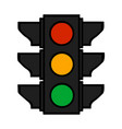 traffic lights colorful cartoon stoplight sign vector image