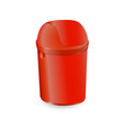trash can isolated on white background with vector image