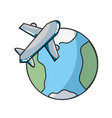 travel and airplane vector image
