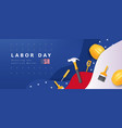 usa happy labor day advertising banner vector image