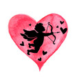 valentine romantic card with heart vector image vector image