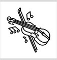 violin music instrument icon and vector image vector image