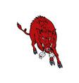 Wild Pig Boar Jumping vector image vector image