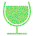 wine glass composition of circles vector image vector image