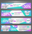 winter sale event set with banners for website vector image vector image