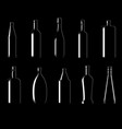 collection of bottles of different shapes vector image