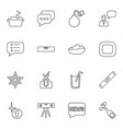 16 bubble icons vector image vector image