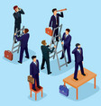 3d flat isometric people vector image