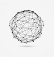 3d wireframe object deformed sphere consists of vector image vector image